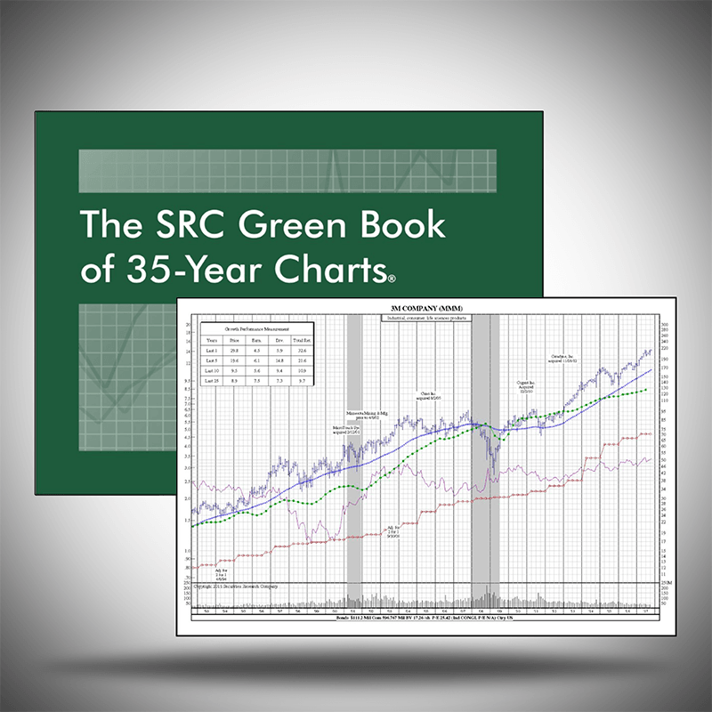 Stock Chart Books - The SRC Green Book of 35-Year Charts